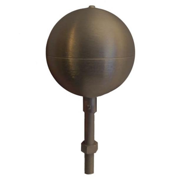 "8"" Inch Bronze #313 Aluminum Ball Flagpole Ornament"