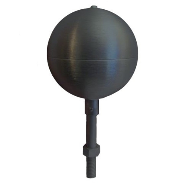 "10"" Inch Black Aluminum Ball Flagpole Ornament"