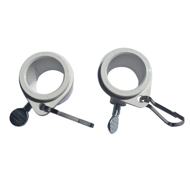 "3/4"" To 1 Inch White Rotating Flag Mounting Rings (Qty 4, 1 Inch)"