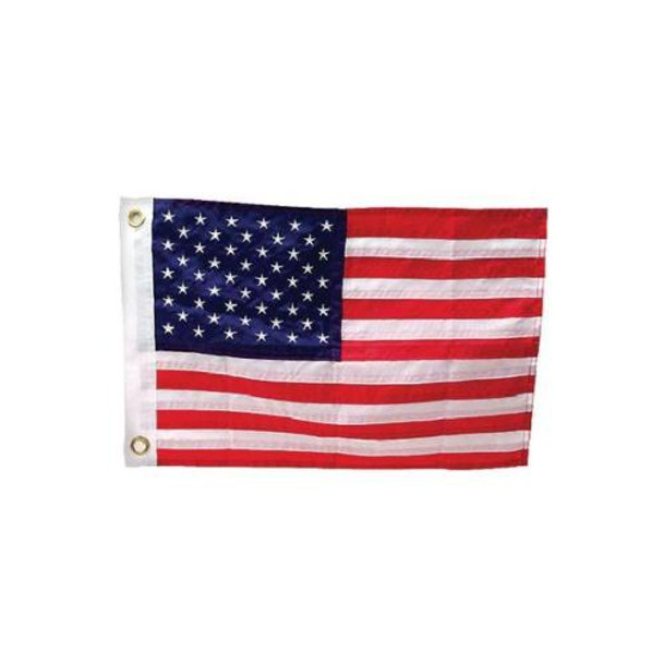"American Flag 12""x18"" Inches Nylon Presidential Series Sewn 12inx18in US Flag"