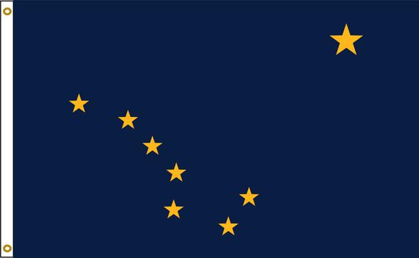 Alaska 5'x8' Nylon State Flag 5ftx8ft