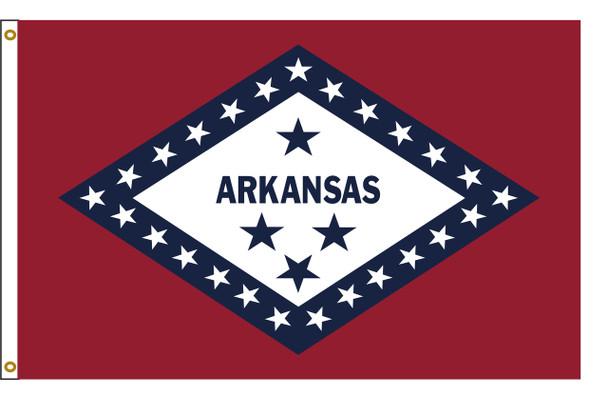 Arkansas 5'x8' Nylon State Flag 5ftx8ft