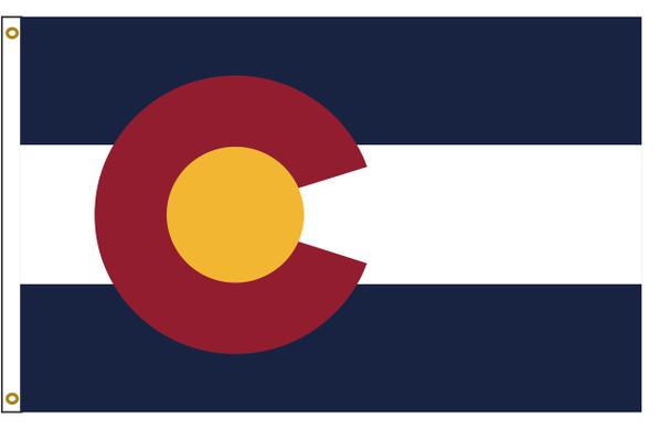 Colorado 5'x8' Nylon State Flag 5ftx8ft