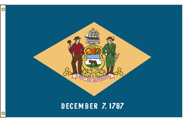 Delaware 5'x8' Nylon State Flag 5ftx8ft