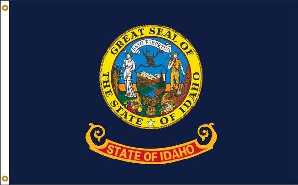 Idaho 5'x8' Nylon State Flag 5ftx8ft