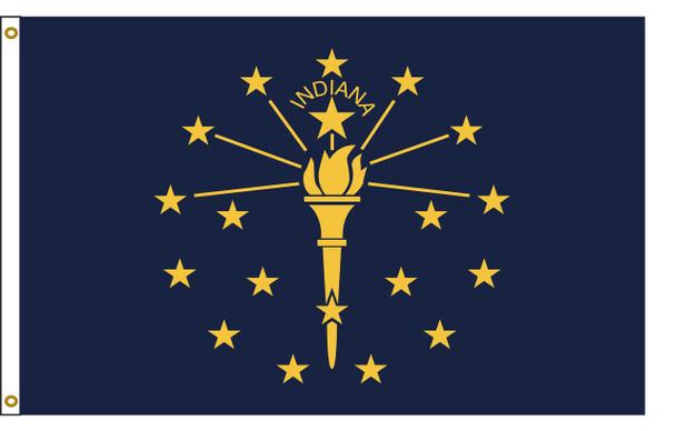 Indiana 5'x8' Nylon State Flag 5ftx8ft