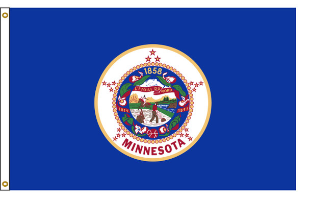 Minnesota 5'x8' Nylon State Flag 5ftx8ft