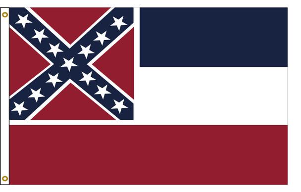 Mississippi 5'x8' Nylon State Flag 5ftx8ft