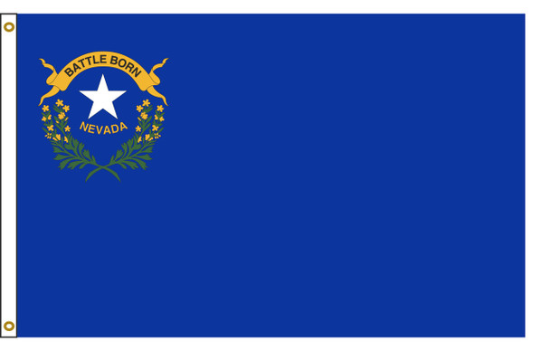 Nevada 5'x8' Nylon State Flag 5ftx8ft