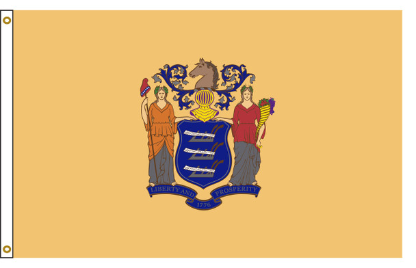 New Jersey 5'x8' Nylon State Flag 5ftx8ft