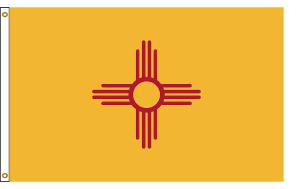 New Mexico 5'x8' Nylon State Flag 5ftx8ft