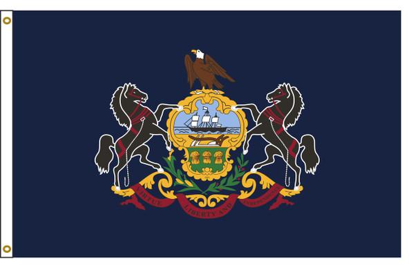 Pennsylvania  5'x8' Nylon State Flag 5ftx8ft