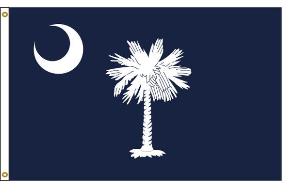 South Carolina 5'x8' Nylon State Flag 5ftx8ft