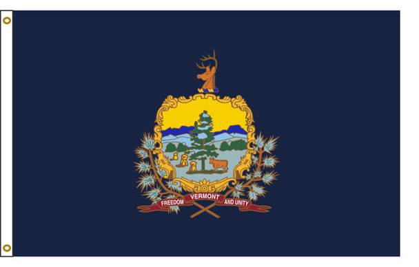 Vermont 5'x8' Nylon State Flag 5ftx8ft
