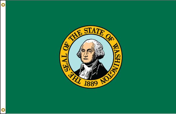 Washington 5'x8' Nylon State Flag 5ftx8ft