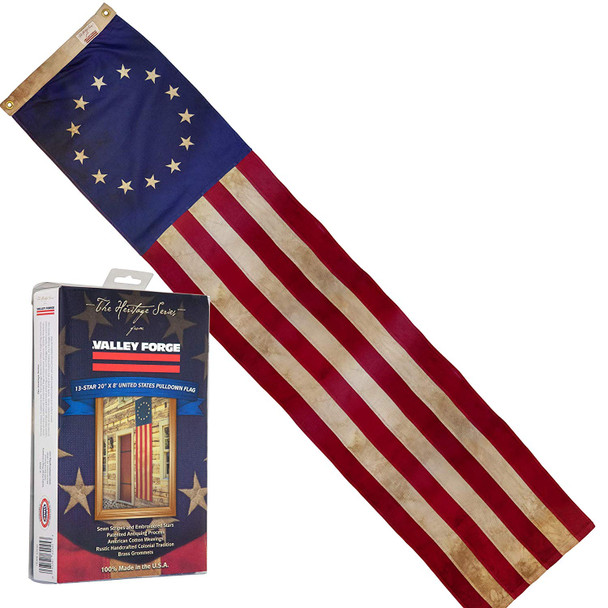 Heritage 20inx8' Cotton 13-Star Pulldown by Valley Forge Flag 62045