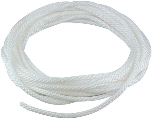 """1/4"""" Diameter x 50' Length White Flagpole Polypropylene Halyard - Flagpole Rope"""