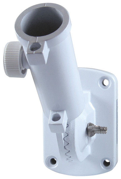 1 Inch White Painted Aluminum Ultimate Adjustable Flag Pole Bracket 310044-1