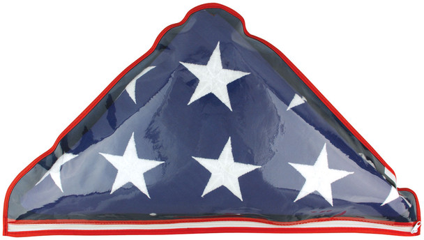 Plastic Memorial Case With Zipper Fits 5'x9.5' US Flags