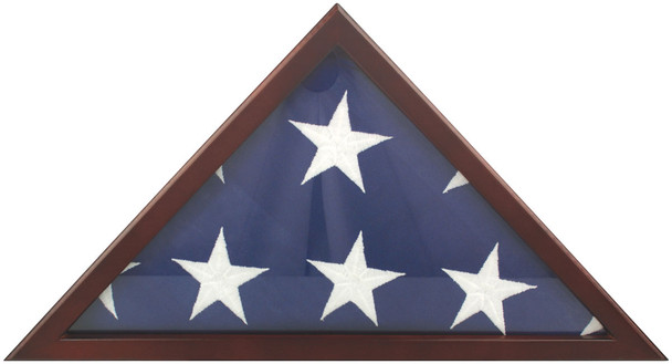 Cherry Finish Memorial Case With Glass