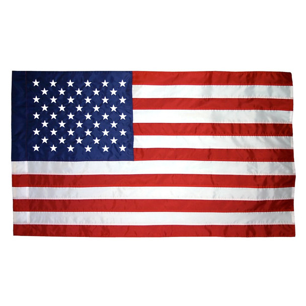 Sleeved Banner Pole Hem US Flag 3x5 Best Nylon American Flag 3'x5' Made in USA 3ftx5ft