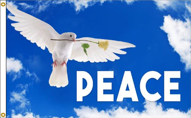 Peace Dove 3ftx5ft Nylon Flag
