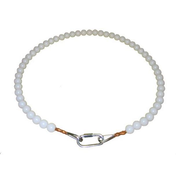 6 Inch Beaded Retainer Ring White