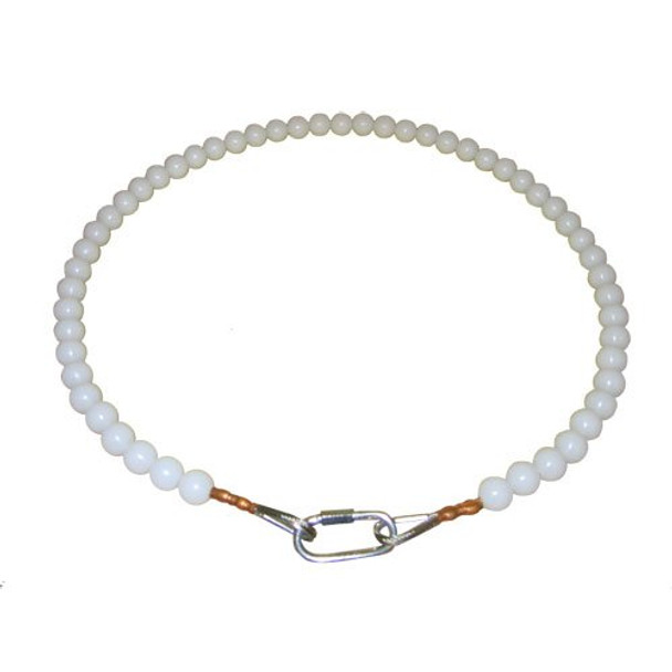 20 Inch Beaded Retainer Ring White
