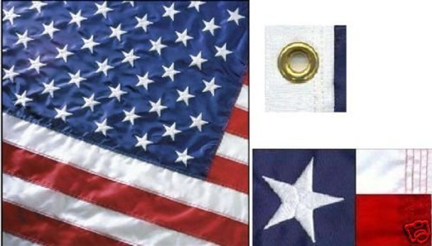 Perma-Nyl 12x18 Inch Nylon U.S. Flag By Valley Forge Flag