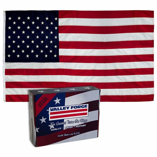 Perma-Nyl 2 1/2'x4' Nylon U.S. Flag By Valley Forge Flag