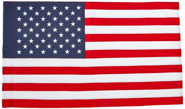 Perma-Nyl 2 1/2'x4' Nylon U.S. Flag Sleeved By Valley Forge Flag