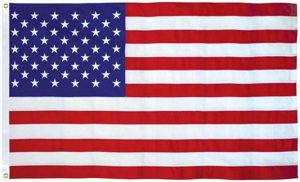 American Flag Made in USA (Nylon, 2.5x4 Feet / 30x84 Inches)