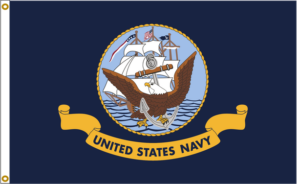 US Navy 5ftx8ft Nylon Flag