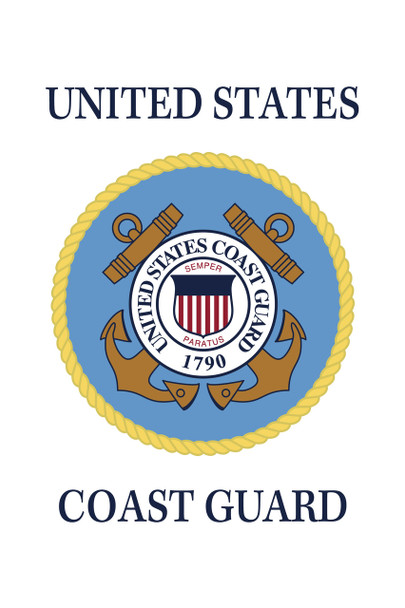 US Coast Guard 18inx12in Nylon Garden Flag