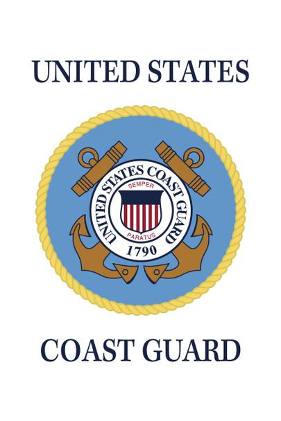 US Coast Guard 18inx12in Nylon Garden Flag
