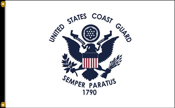 US Coast Guard 2ftx3ft Nylon Flag