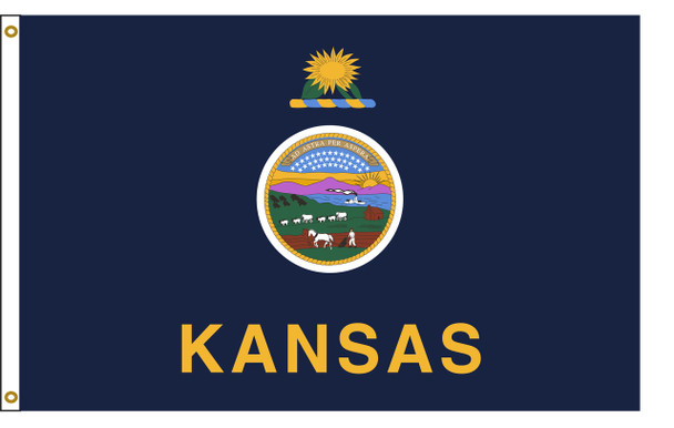 Kansas 6'x10' Nylon State Flag 6ftx10ft