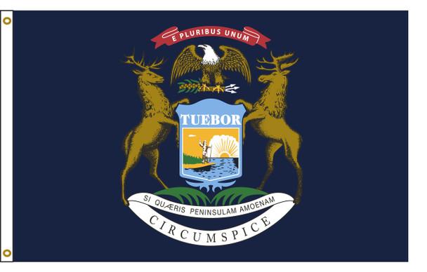 Michigan 6'x10' Nylon State Flag 6ftx10ft