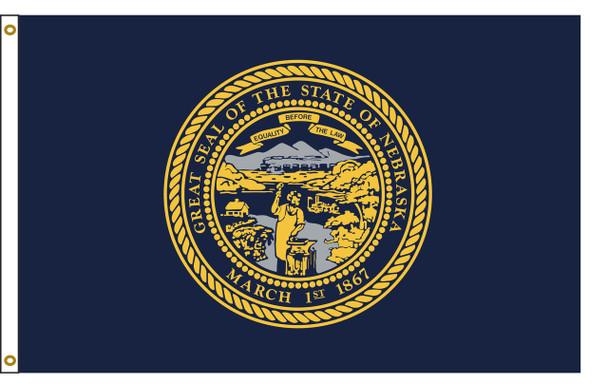 Nebraska 6'x10' Nylon State Flag 6ftx10ft