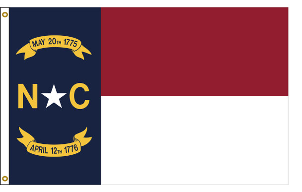 North Carolina 6'x10' Nylon State Flag 6ftx10ft