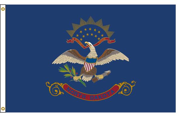 North Dakota 6'x10' Nylon State Flag 6ftx10ft