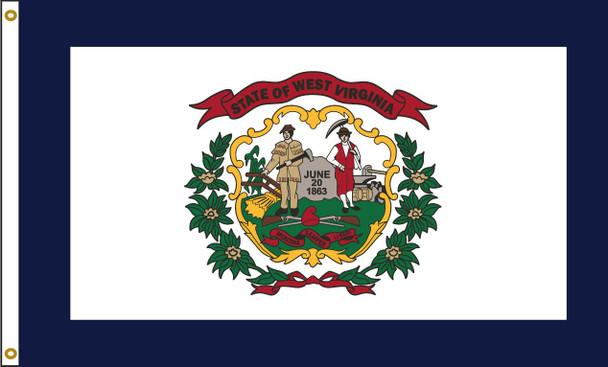 West Virginia 6'x10' Nylon State Flag 6ftx10ft