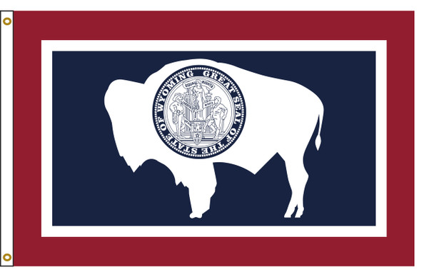 Wyoming 6'x10' Nylon State Flag 6ftx10ft
