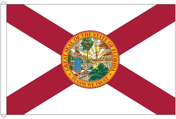 Florida 8x12 Feet Nylon State Flag Made in USA