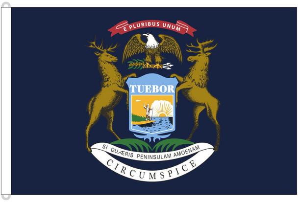 Michigan 8'x12' Nylon State Flag 8ftx12ft