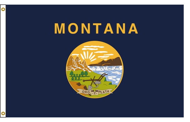 Montana 8'x12' Nylon State Flag 8ftx12ft