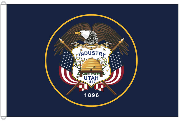 Utah 8'x12' Nylon State Flag 8ftx12ft