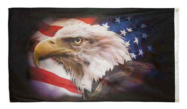 Back side of Eagle Flag