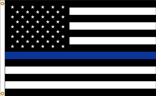 Thin Blue Line US American 2ftx3ft Nylon Flag