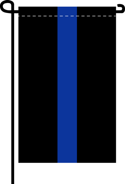 Thin Blue Line  - Doesn't come with the garden flagpole